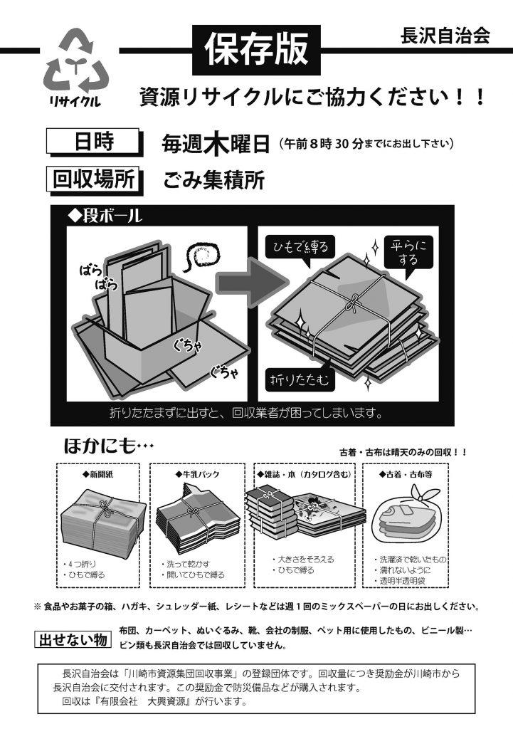 長沢自治会資源回収